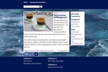 Screenshot der Darstellung eines Einzelbeitrags im Darstellungsmodus M