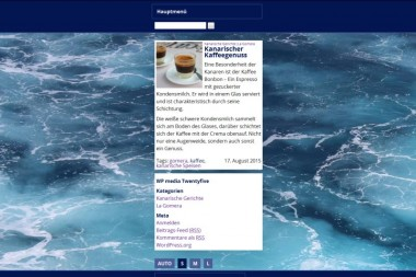 Screenshot von der Darstellung eines Einzelbeitrags im Darstellungsmodus S