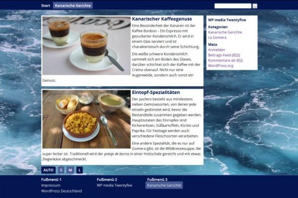 Screenshot von Kategorie-Darstellung ohne oben-halten-Beitrag